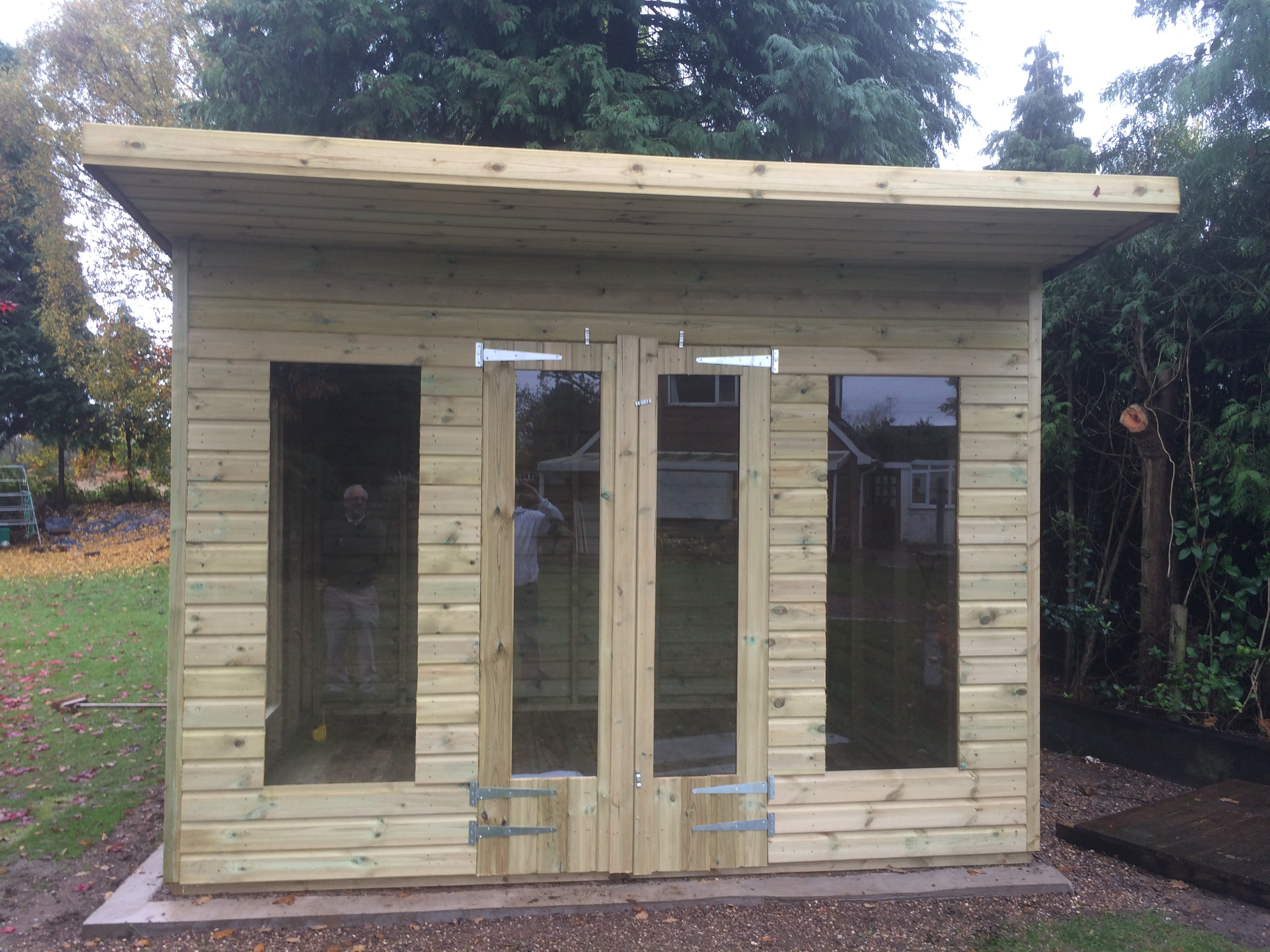 12x8 19mm ultimate summerhouses 2ft overhang midland for 12x8 shed with side door