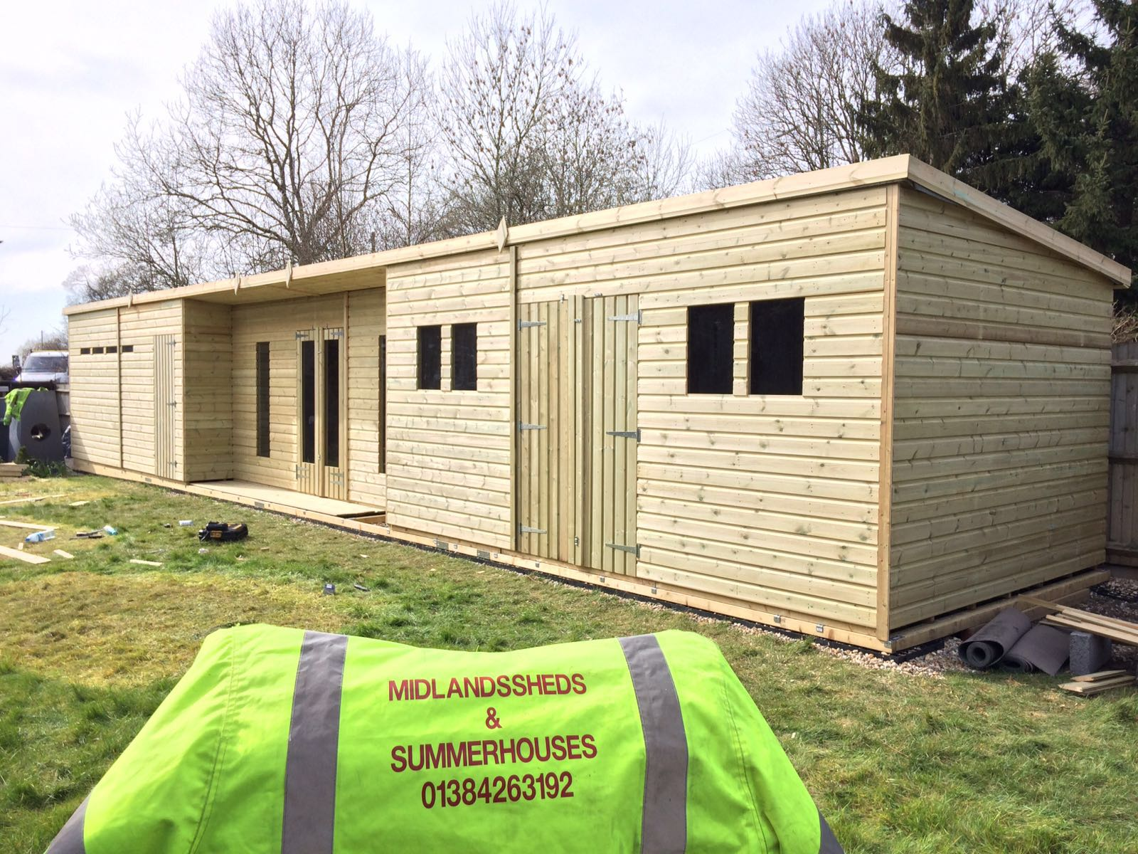 48x10 19mm ultimate tanalised summerhouse shed man cave 19mm