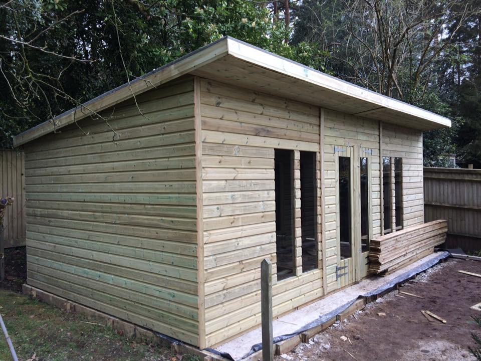 20x10 19mm pent ultimate tanalised summerhouses 2ft for Garden shed ideas uk